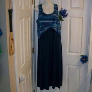 ND New Directions PL Sleeveless Maxi Dress NWT